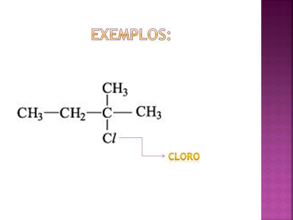 Exemplos: Cloro