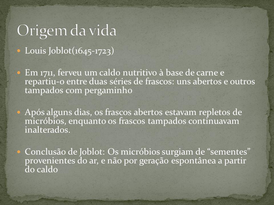 Origem da vida Louis Joblot(1645-1723)