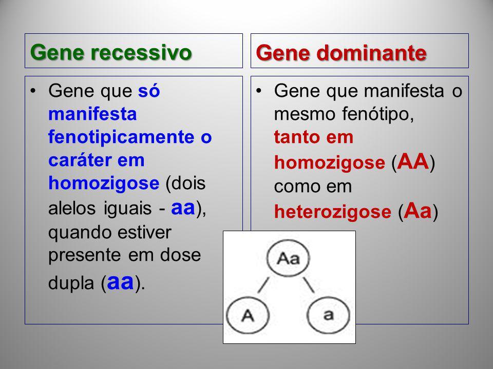 Gene recessivo Gene dominante