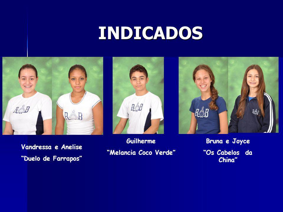 INDICADOS Guilherme Melancia Coco Verde Bruna e Joyce
