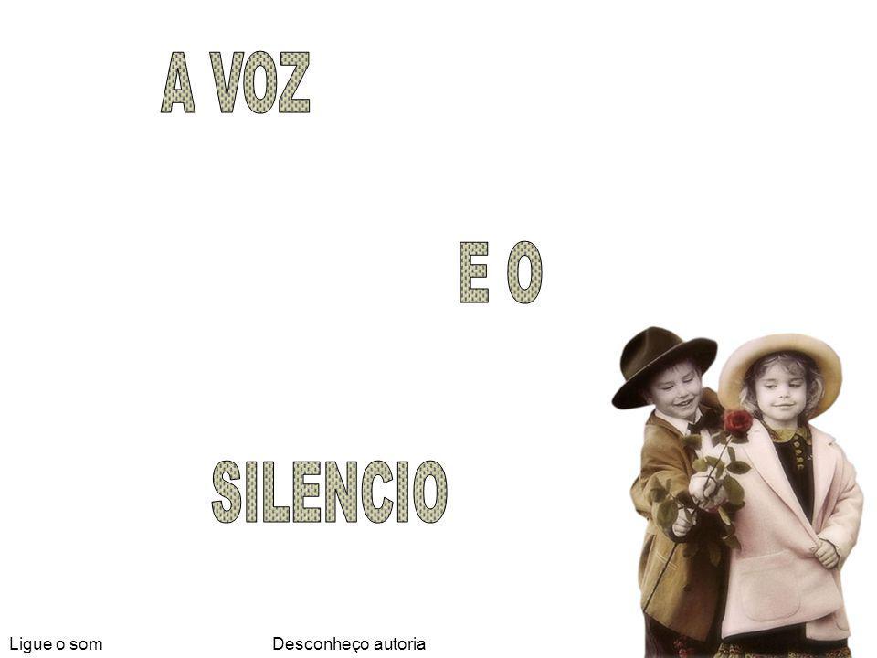 A VOZ E O SILENCIO Ligue o som Desconheço autoria