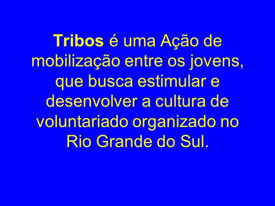 Tribos é uma Ação de mobilização entre os jovens, que busca estimular e desenvolver a cultura de voluntariado organizado no Rio Grande do Sul.