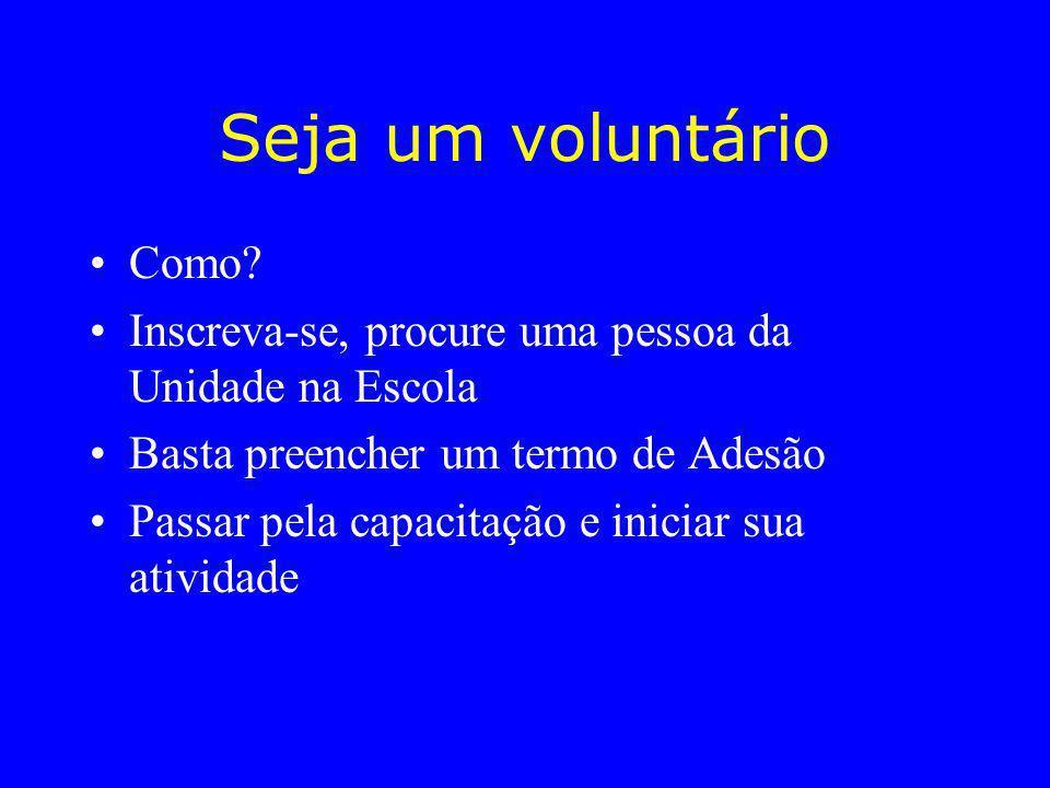 Seja um voluntário Como