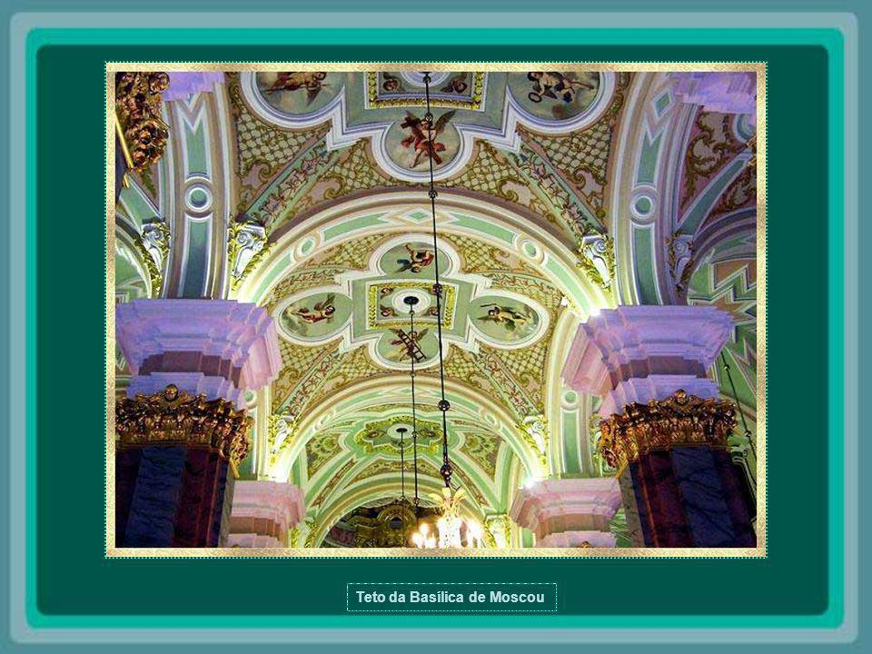 Teto da Basílica de Moscou