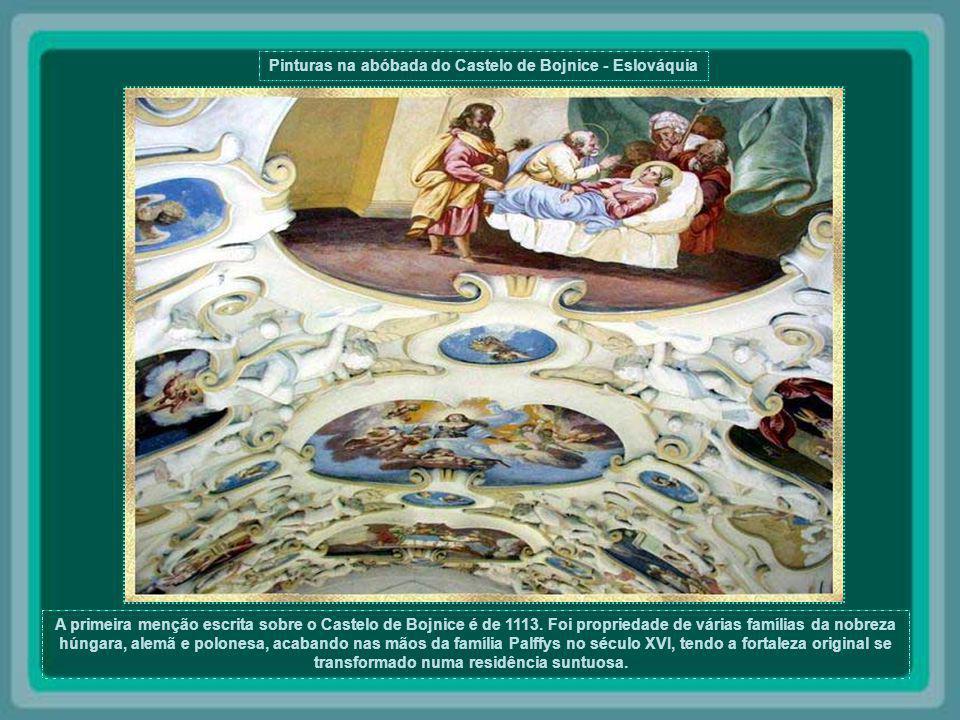 Pinturas na abóbada do Castelo de Bojnice - Eslováquia