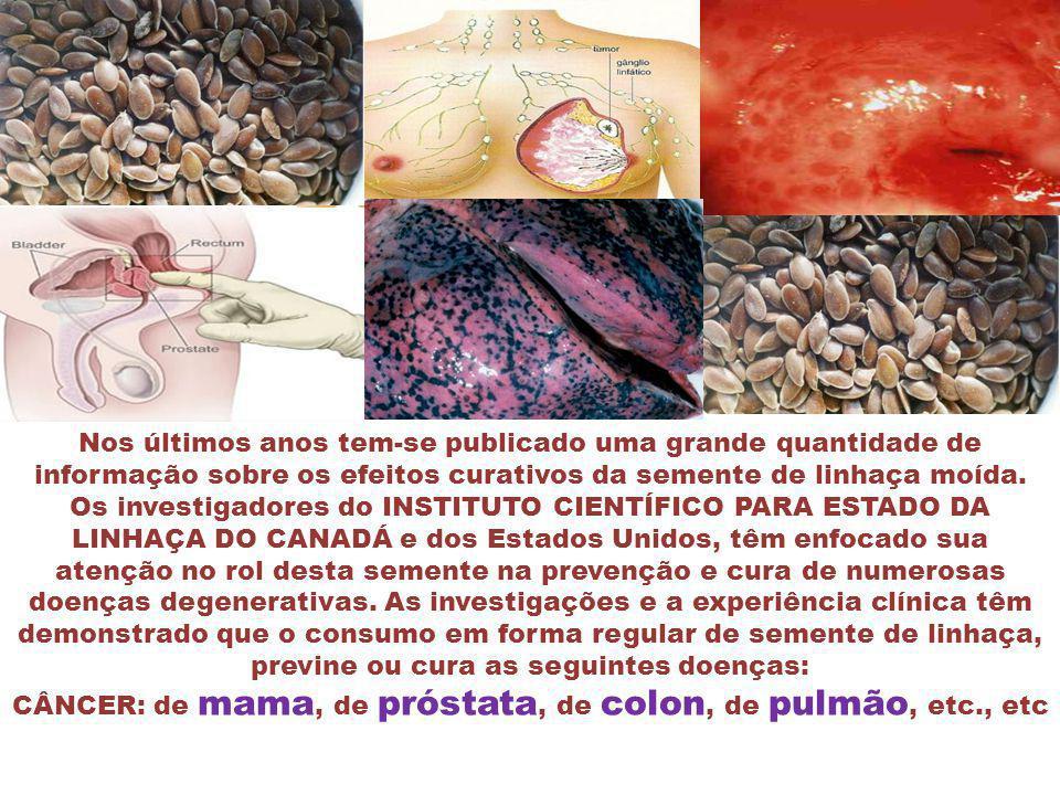 Nos últimos anos tem-se publicado uma grande quantidade de informação sobre os efeitos curativos da semente de linhaça moída.