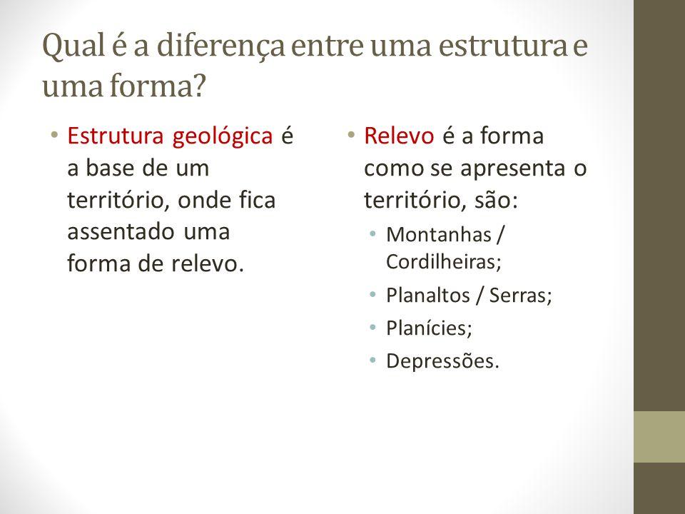 Qual é a diferença entre uma estrutura e uma forma