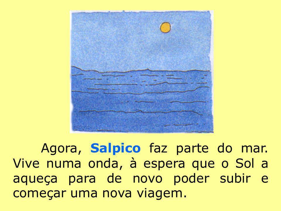 Agora, Salpico faz parte do mar