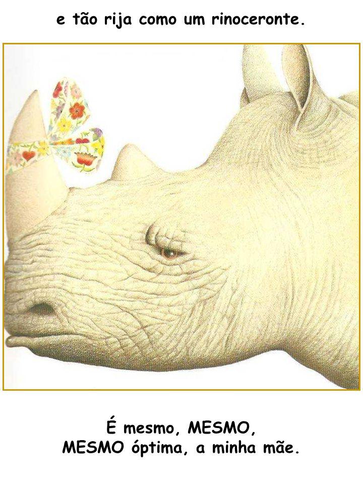 e tão rija como um rinoceronte. MESMO óptima, a minha mãe.