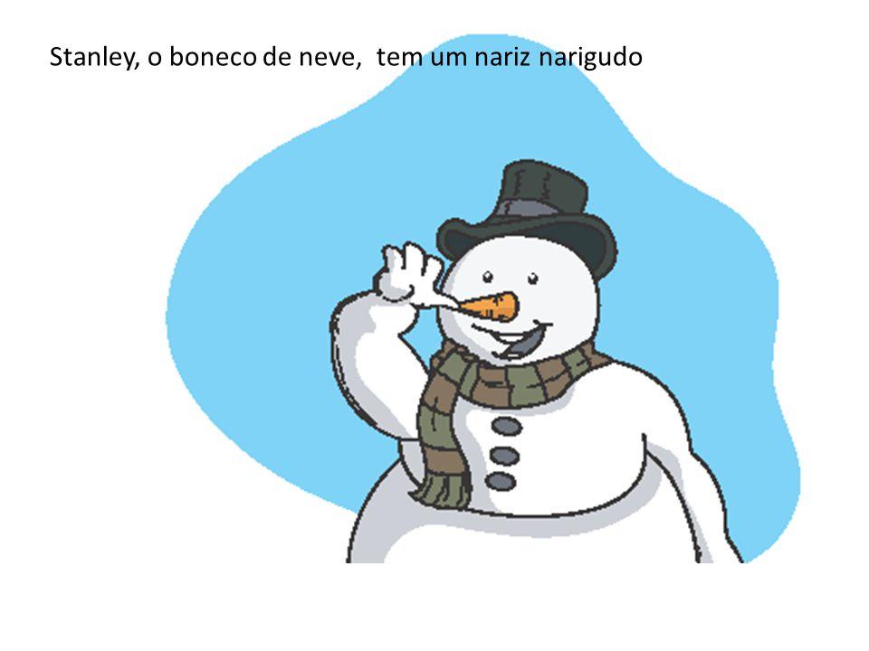 Stanley, o boneco de neve, tem um nariz narigudo