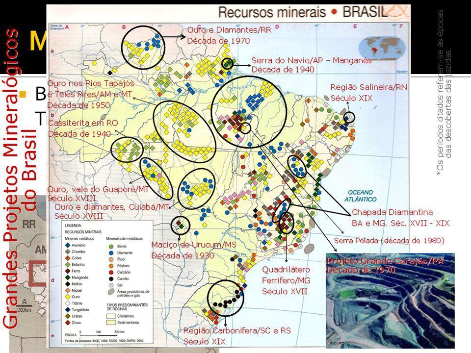 Minerais: Metálicos Bauxita- rio Trombetas/PA