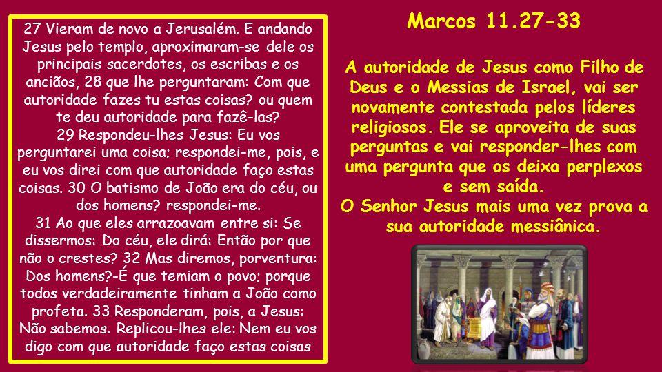 O Senhor Jesus mais uma vez prova a sua autoridade messiânica.