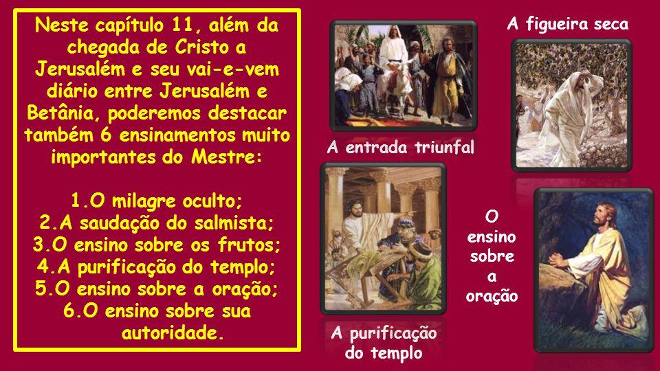 2.A saudação do salmista; 3.O ensino sobre os frutos;