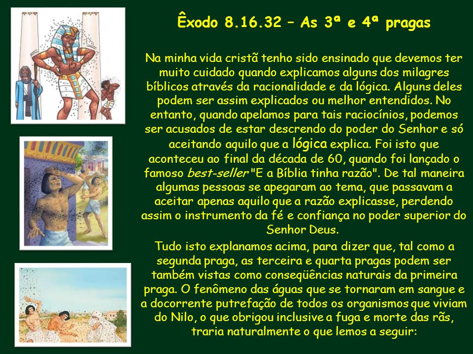 Êxodo 8.16.32 – As 3ª e 4ª pragas