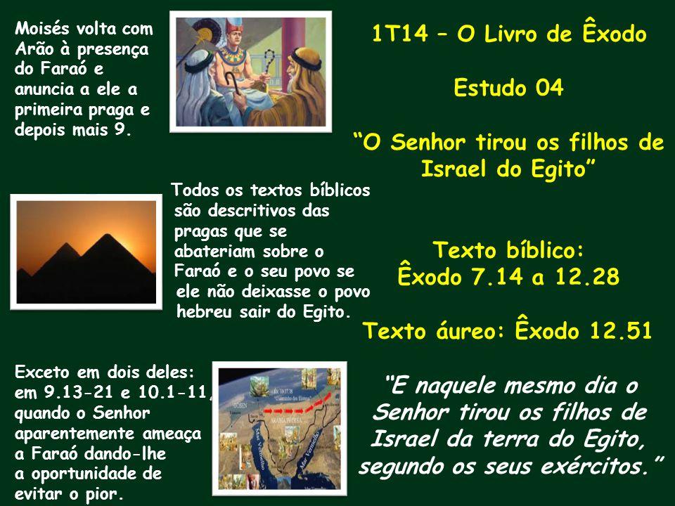 O Senhor tirou os filhos de Israel do Egito