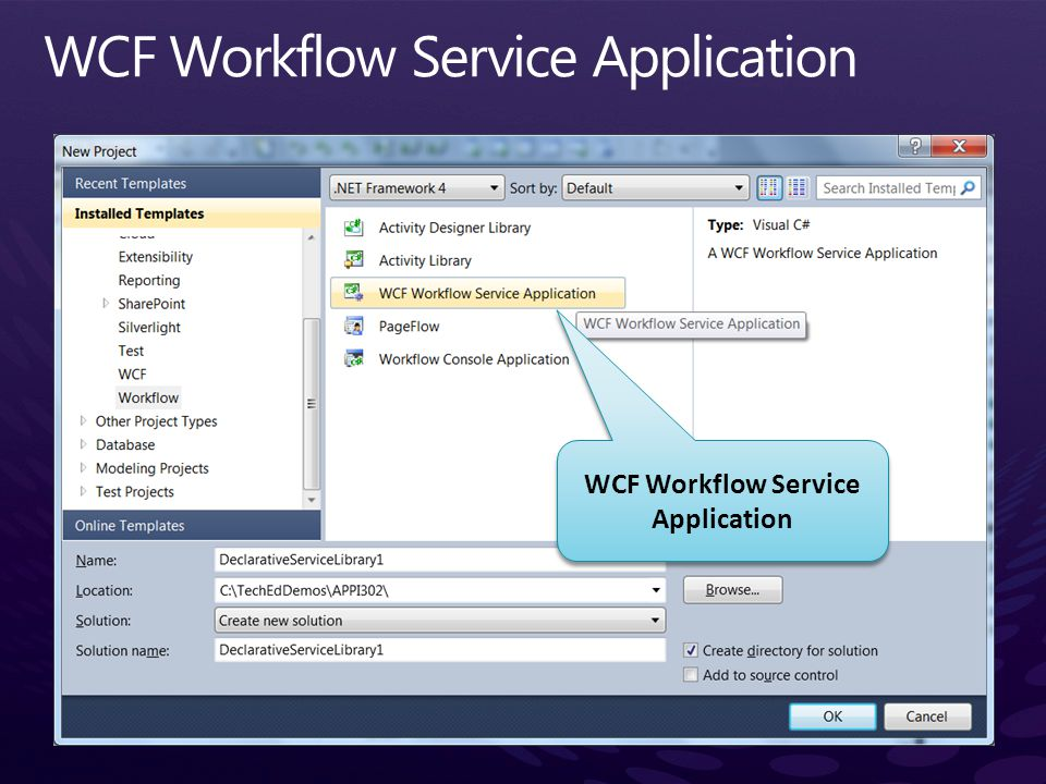 WCF Workflow Service Application