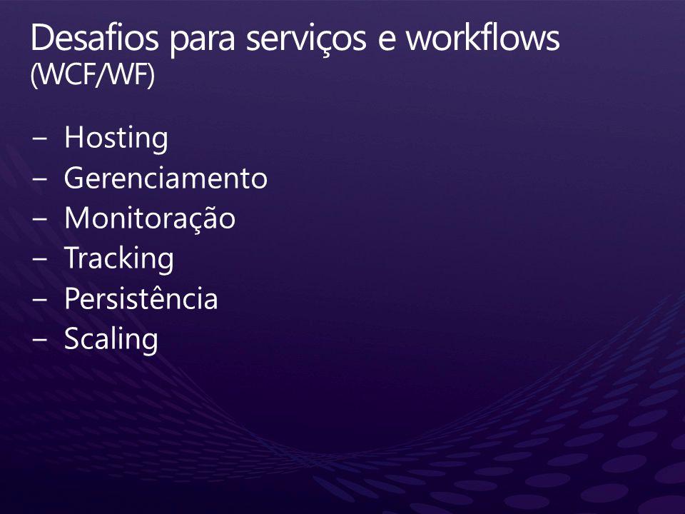 Desafios para serviços e workflows (WCF/WF)