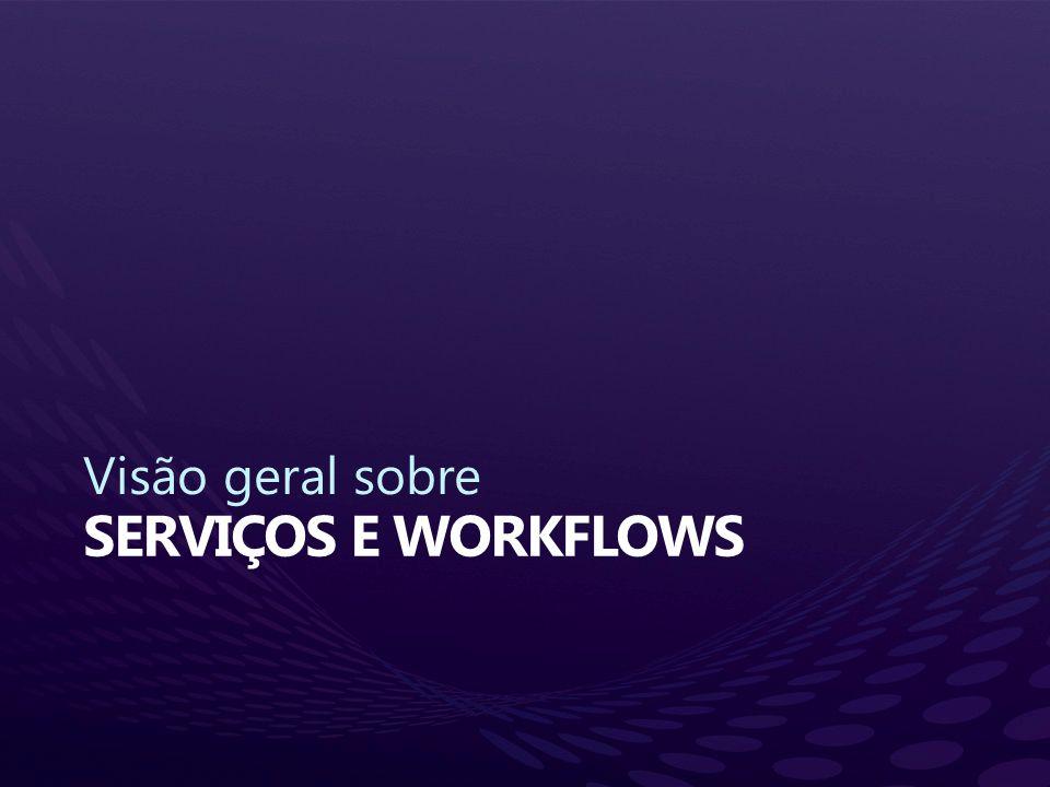 Visão geral sobre Serviços e workflows