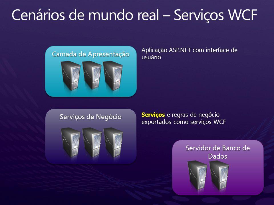 Cenários de mundo real – Serviços WCF