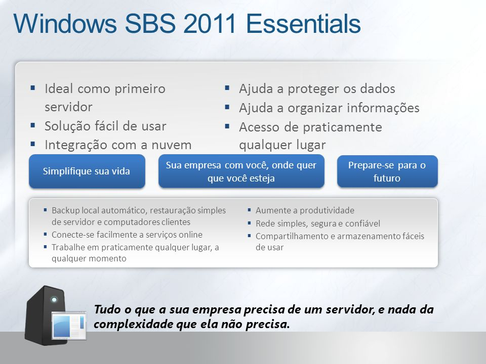Windows SBS 2011 Essentials