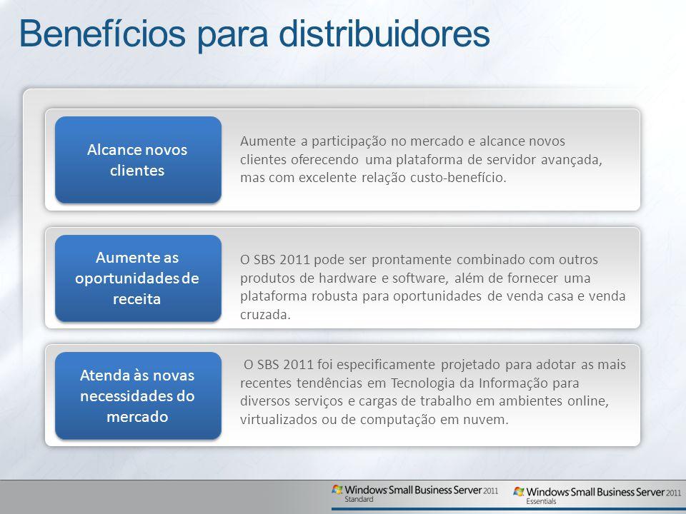 Benefícios para distribuidores