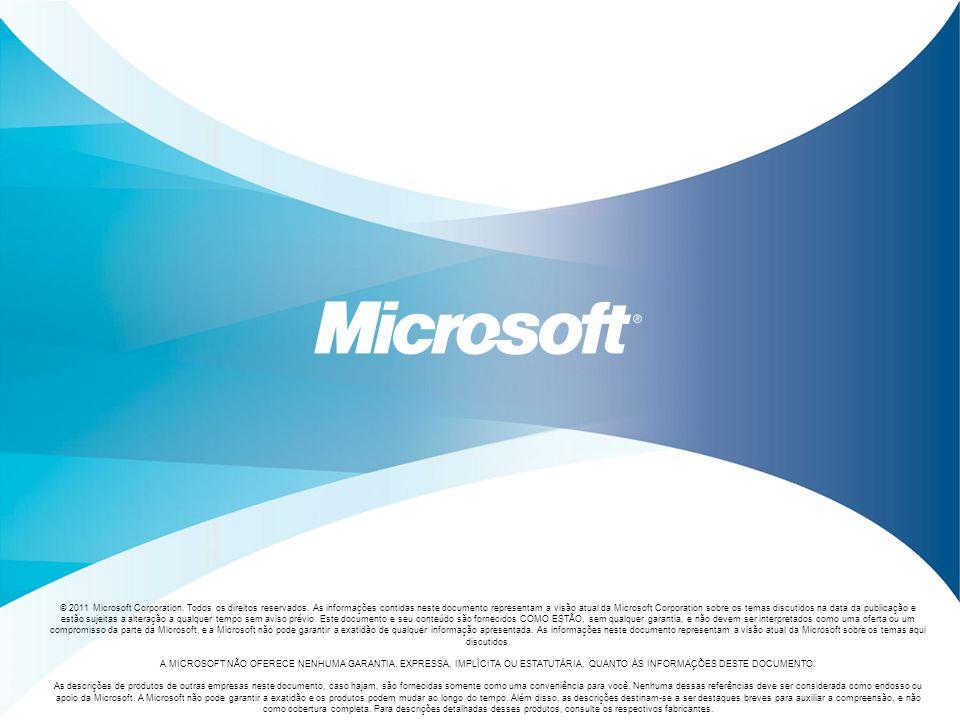 © 2011 Microsoft Corporation. Todos os direitos reservados