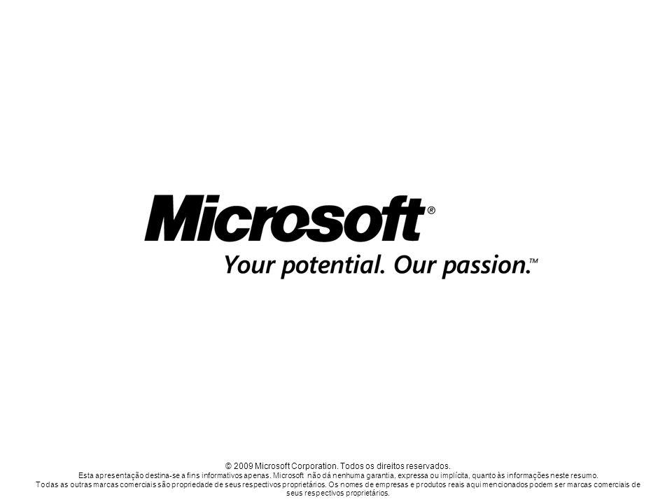 © 2009 Microsoft Corporation. Todos os direitos reservados.