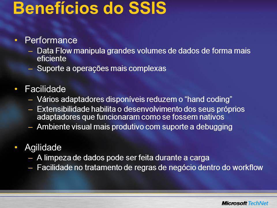 Benefícios do SSIS Performance Facilidade Agilidade