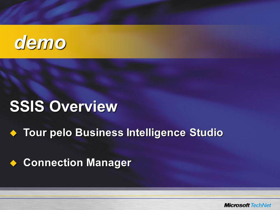 demo SSIS Overview Tour pelo Business Intelligence Studio