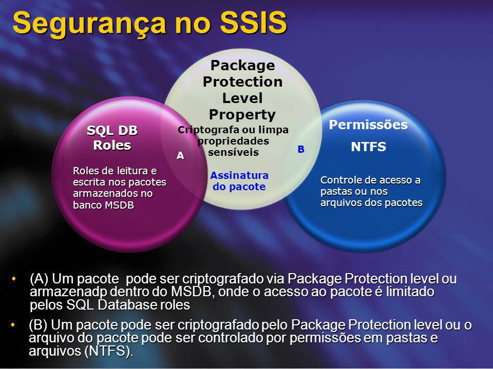 Segurança no SSIS Package Protection Level Property