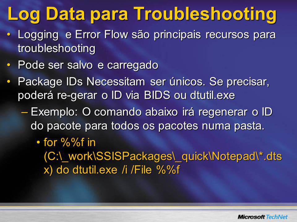Log Data para Troubleshooting