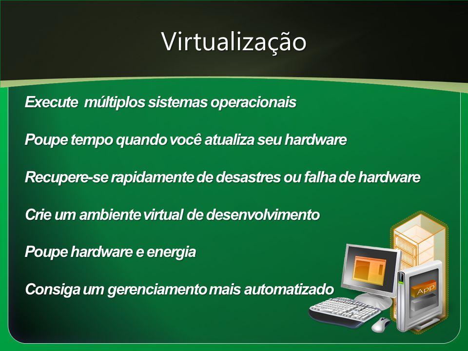 Virtualização Execute múltiplos sistemas operacionais