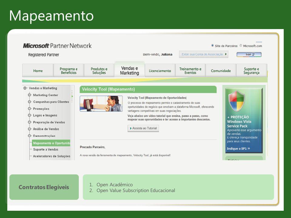 Mapeamento Contratos Elegíveis Open Acadêmico