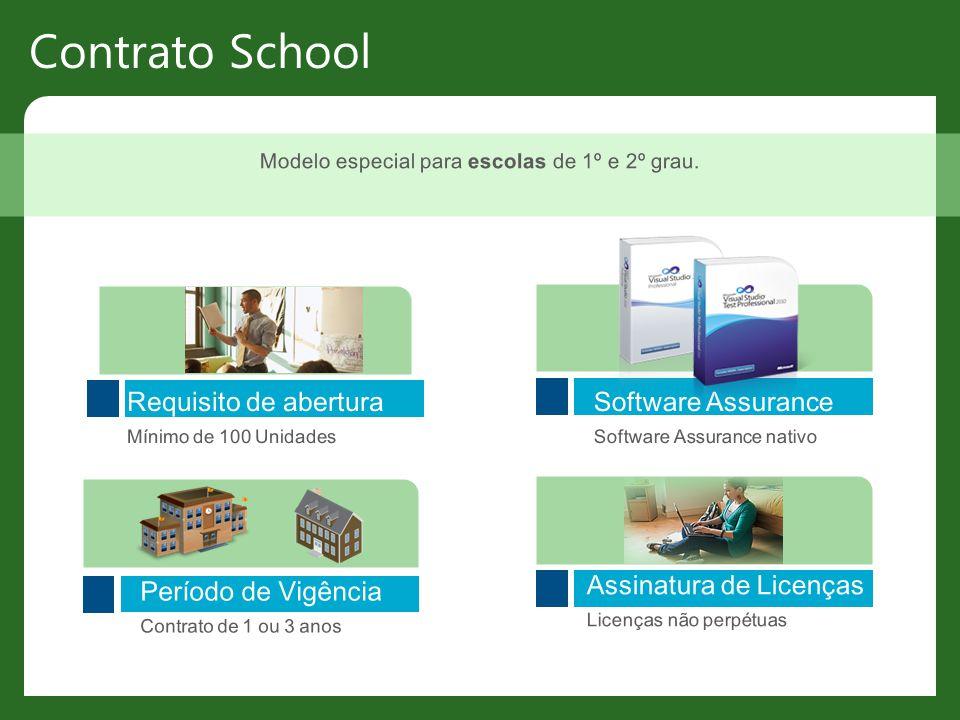 Modelo especial para escolas de 1º e 2º grau.