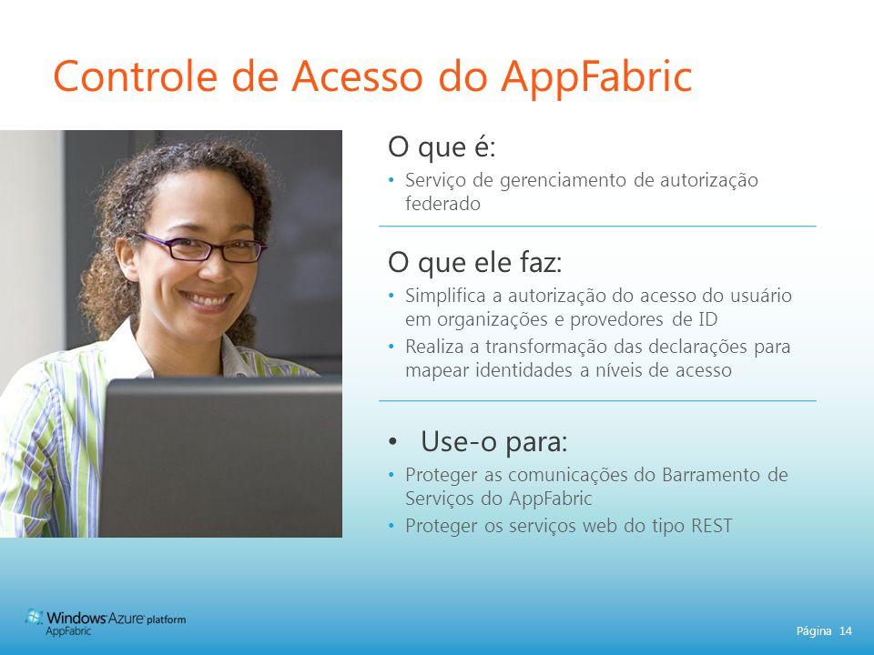 Controle de Acesso do AppFabric