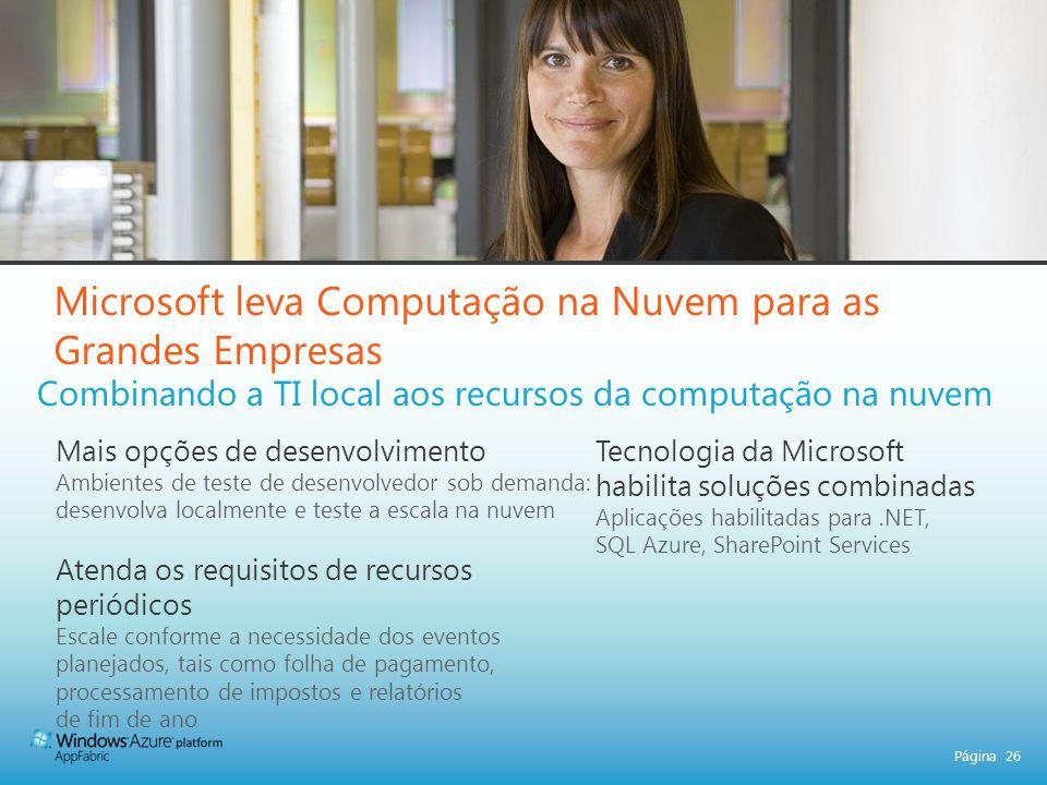 Microsoft leva Computação na Nuvem para as Grandes Empresas
