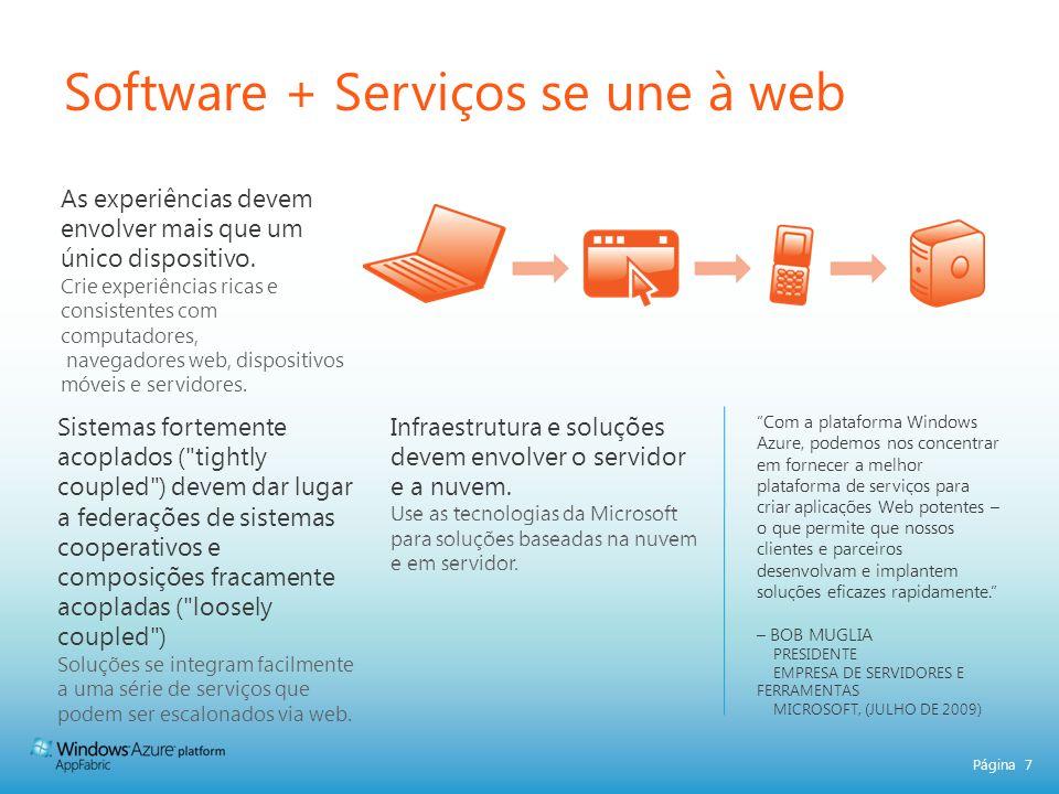 Software + Serviços se une à web