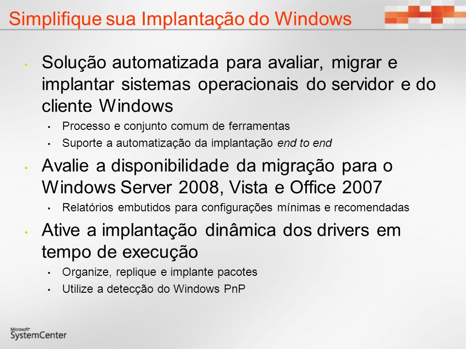 Simplifique sua Implantação do Windows