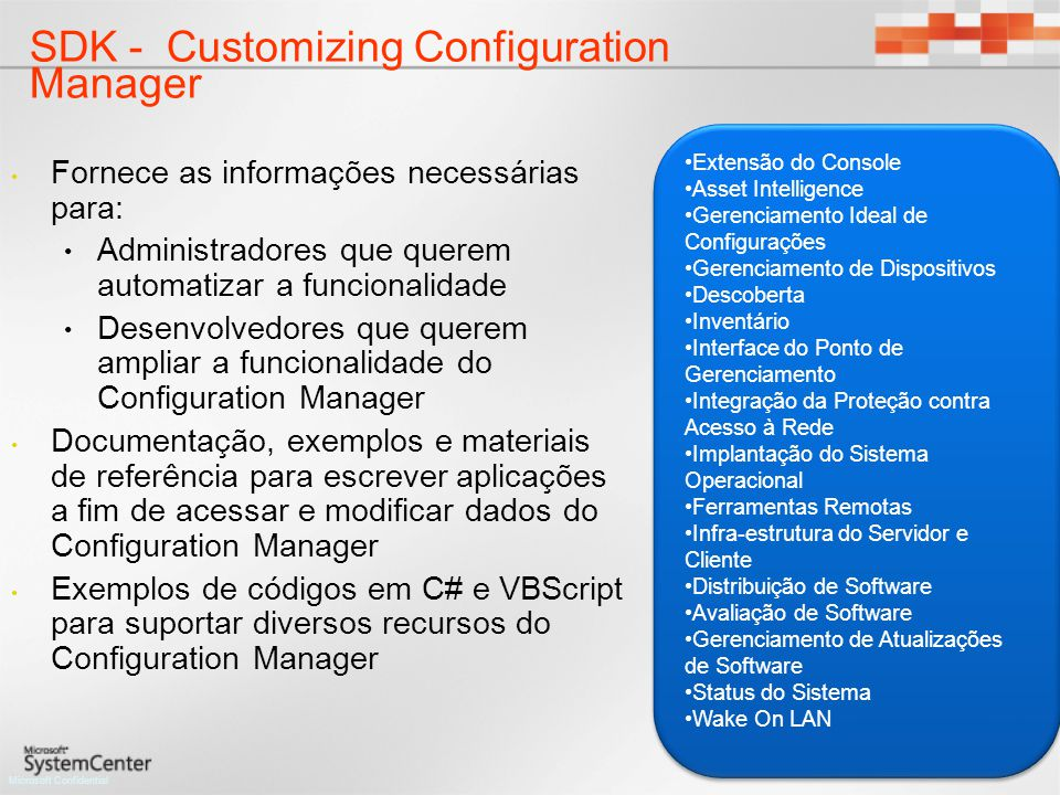 SDK - Customizing Configuration Manager
