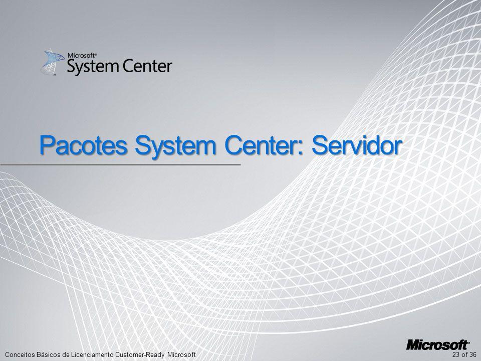 Pacotes System Center: Servidor