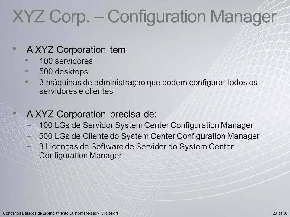 XYZ Corp. – Configuration Manager