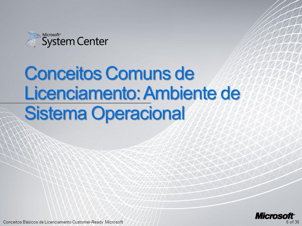 Conceitos Comuns de Licenciamento: Ambiente de Sistema Operacional