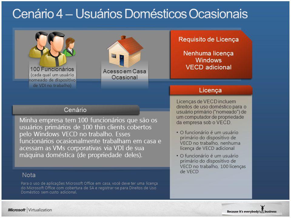 Cenário 4 – Usuários Domésticos Ocasionais