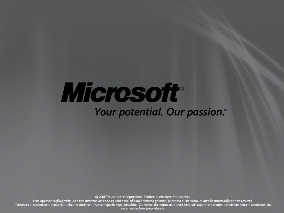 © 2007 Microsoft Corporation. Todos os direitos reservados.