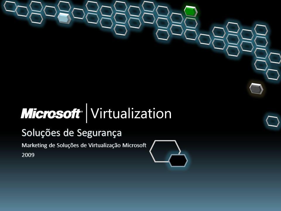 Soluções de Segurança Marketing de Soluções de Virtualização Microsoft