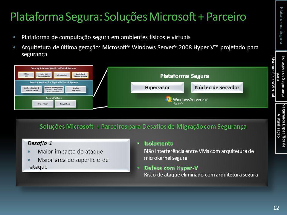 Plataforma Segura: Soluções Microsoft + Parceiro