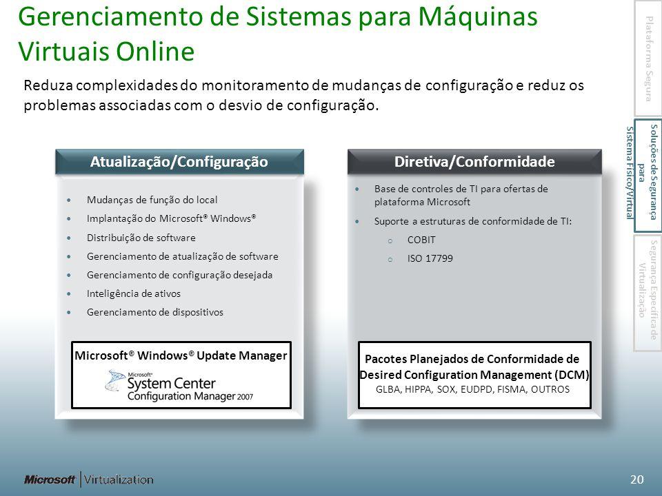 Gerenciamento de Sistemas para Máquinas Virtuais Online