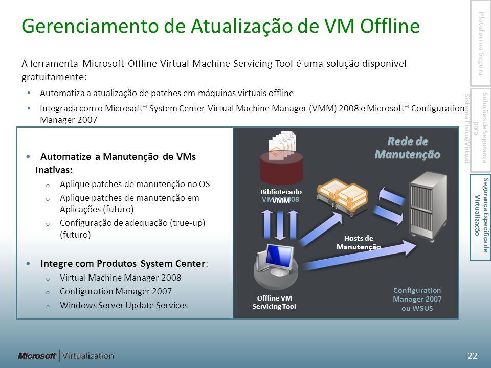 Gerenciamento de Atualização de VM Offline