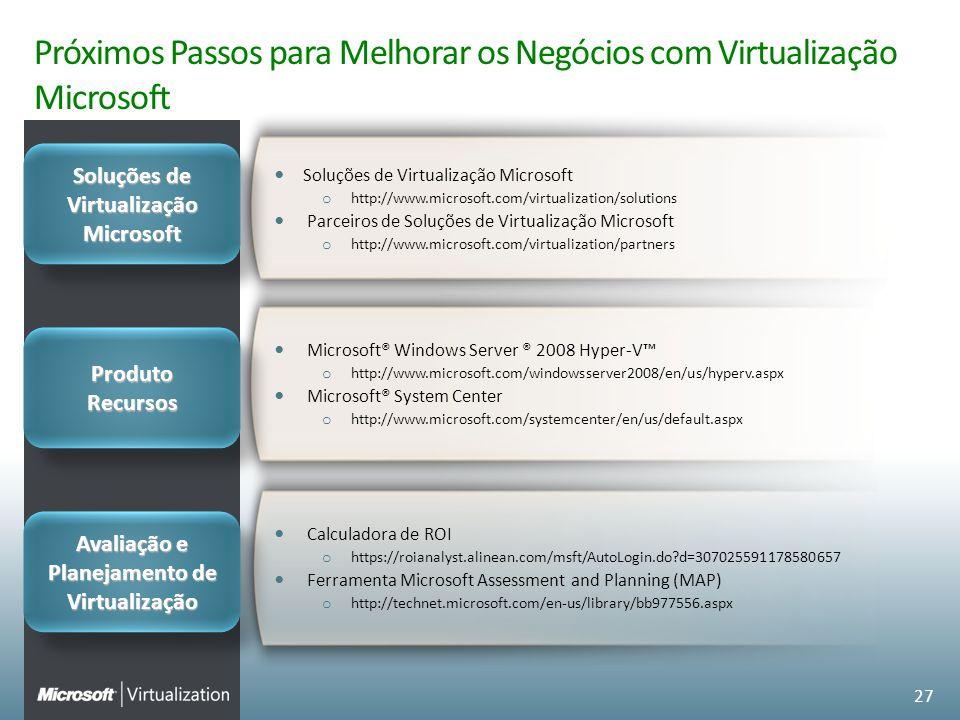 Próximos Passos para Melhorar os Negócios com Virtualização Microsoft