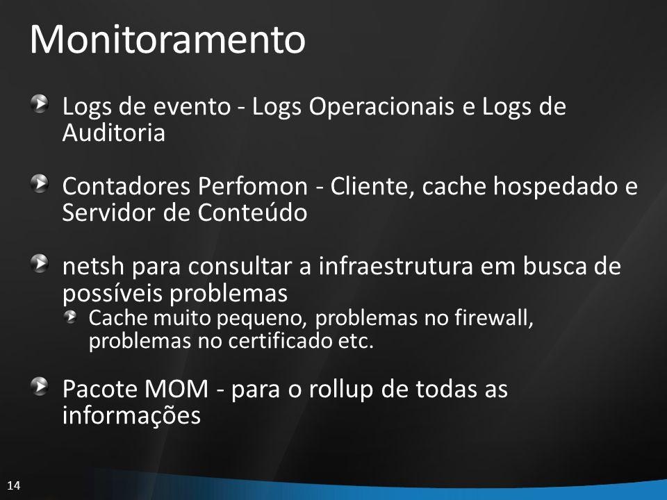 Monitoramento Logs de evento - Logs Operacionais e Logs de Auditoria